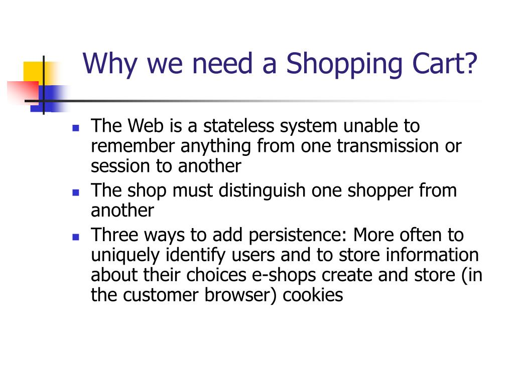 Why we need a Shopping Cart?
