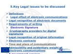 5 key legal issues to be discussed