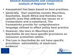 general assessments and comparative analysis of regional texts