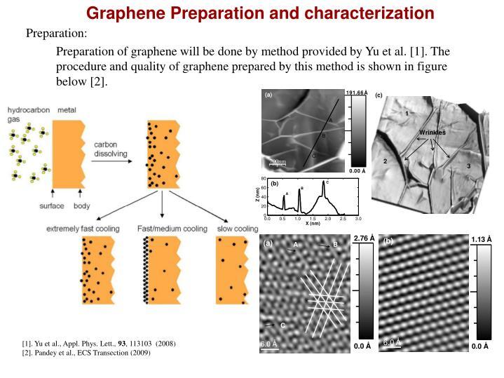 Graphene Preparation and characterization
