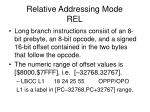 relative addressing mode rel2