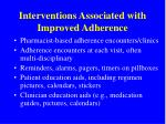 interventions associated with improved adherence
