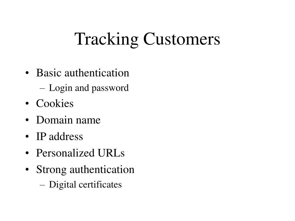Tracking Customers
