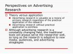 perspectives on advertising research