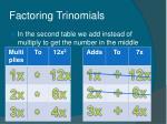 factoring trinomials13