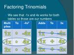 factoring trinomials23