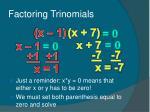 factoring trinomials37