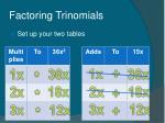 factoring trinomials42