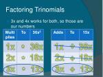 factoring trinomials43