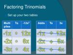 factoring trinomials48