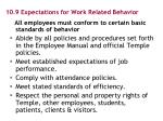 10 9 expectations for work related behavior