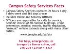 campus safety services facts