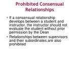 prohibited consensual relationships