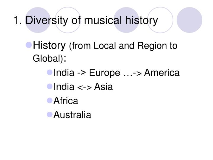 1. Diversity of musical history