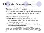 1 diversity of musical history3