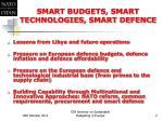 smart budgets smart technologies smart defence