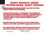 smart budgets smart technologies smart defence1