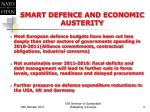 smart defence and economic austerity