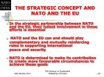 the strategic concept and nato and the eu