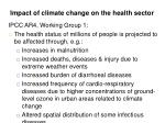 impact of climate change on the health sector
