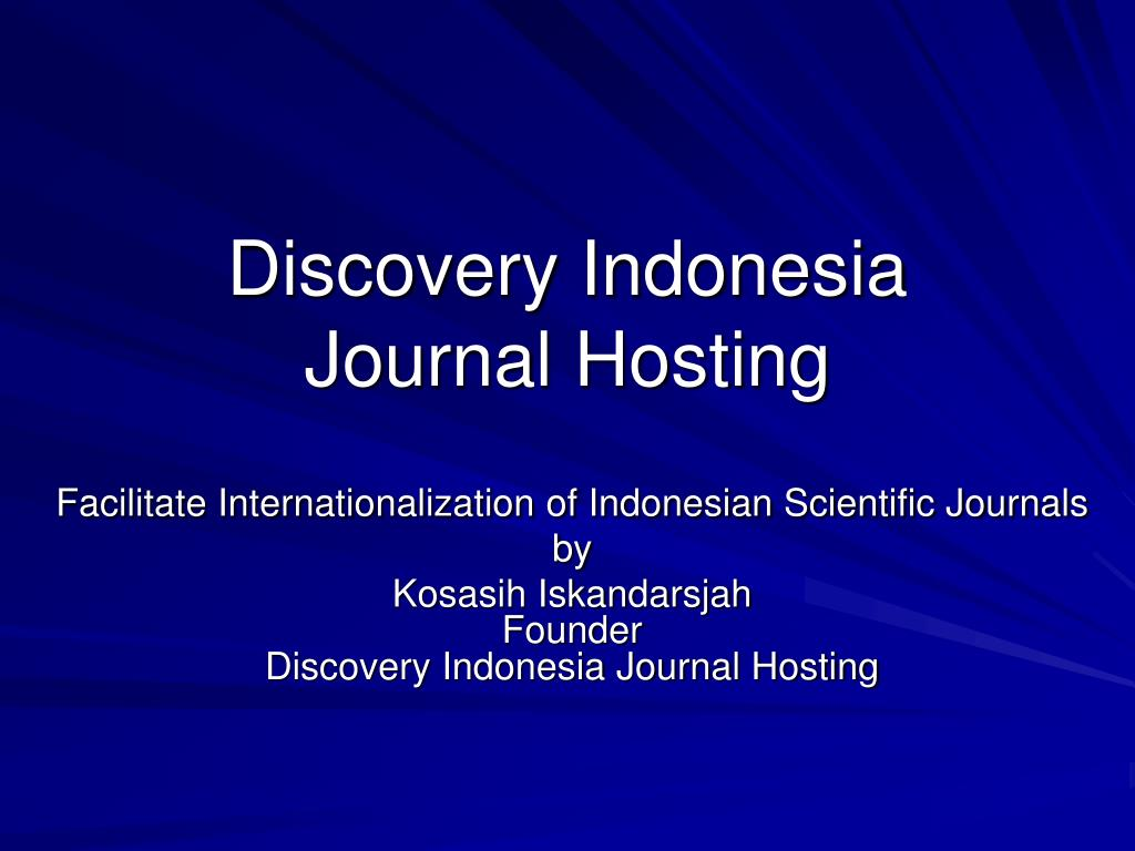discovery indonesia journal hosting l.