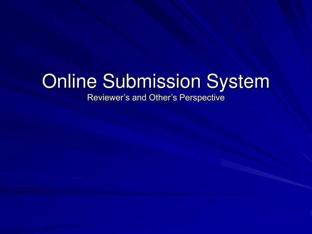 Online Submission System