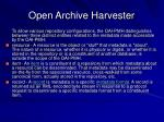 open archive harvester53