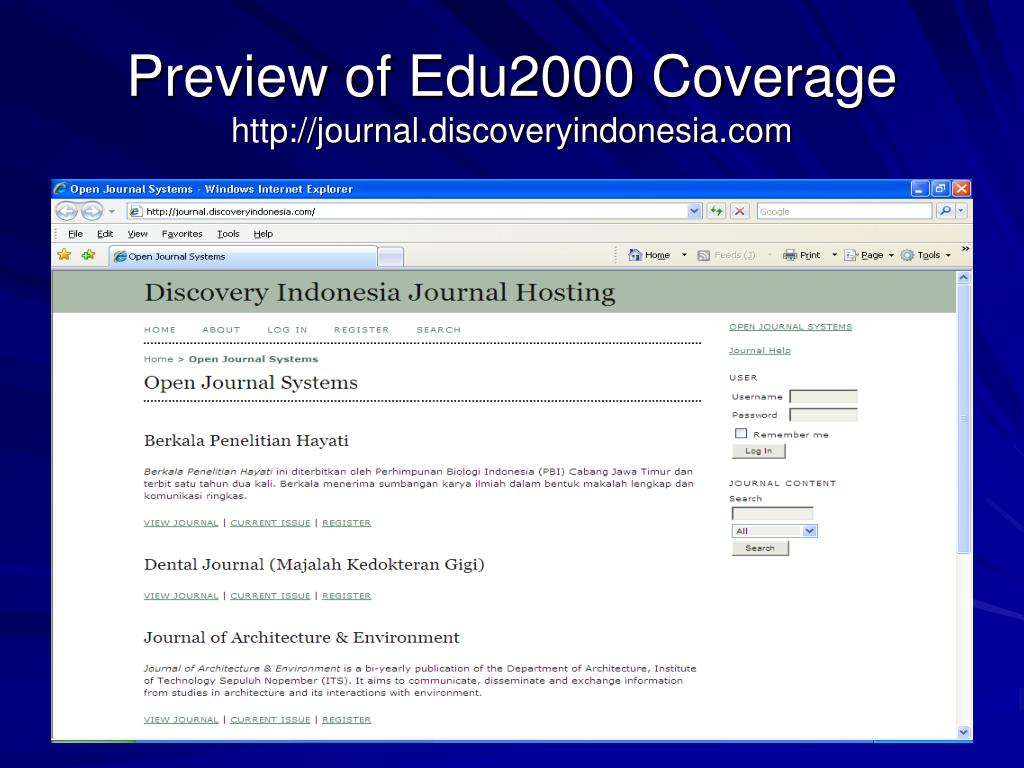 Preview of Edu2000 Coverage