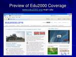 preview of edu2000 coverage www edu2000 org main site