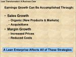 earnings growth can be accomplished through