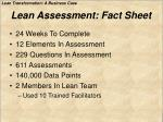 lean assessment fact sheet