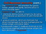 cell mediated immunity cont