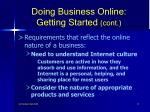 doing business online getting started cont