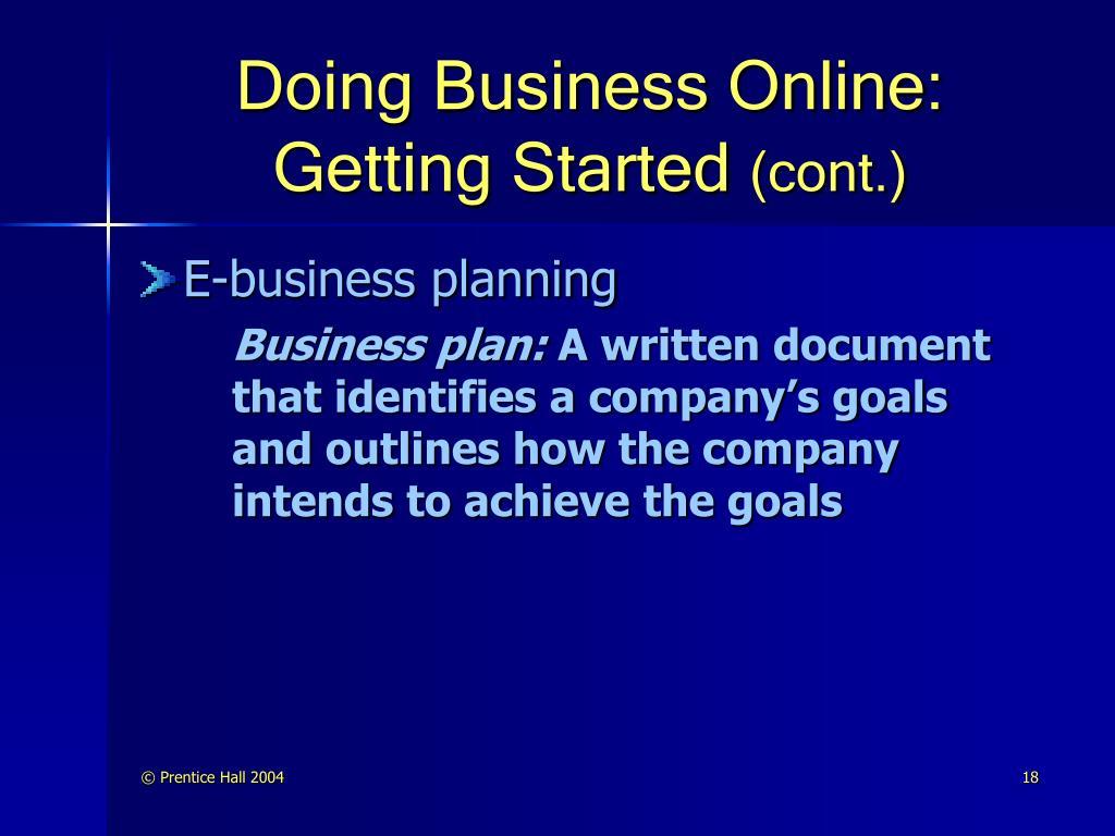 Doing Business Online: