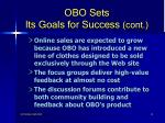 obo sets its goals for success cont13