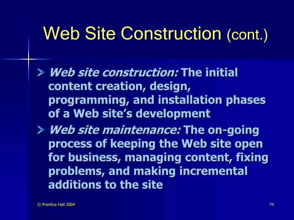 Web Site Construction