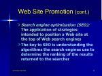 web site promotion cont