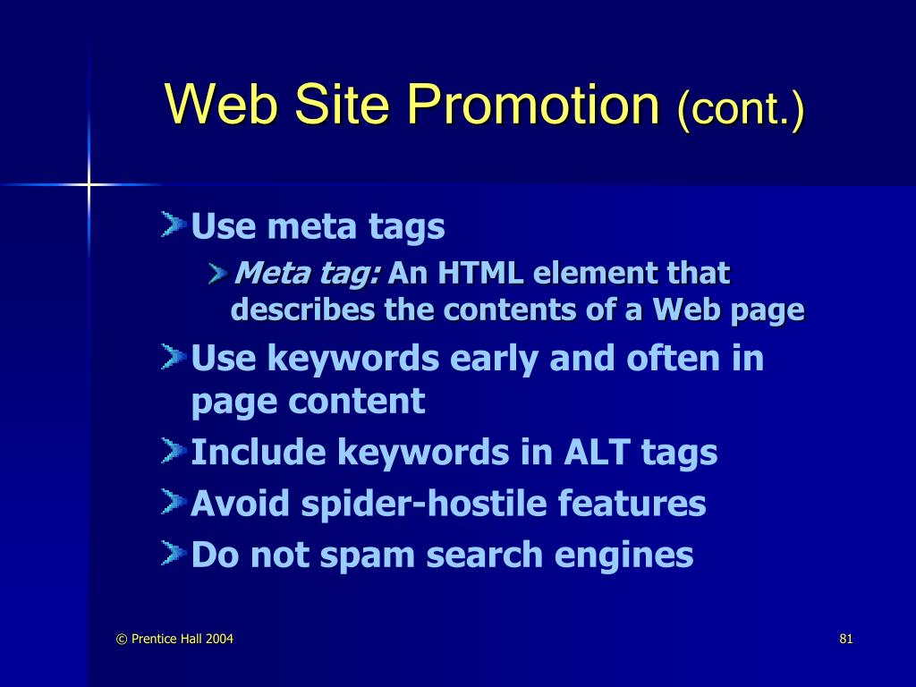 Web Site Promotion
