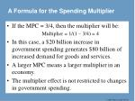a formula for the spending multiplier1