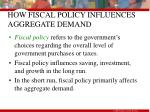 how fiscal policy influences aggregate demand