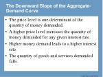 the downward slope of the aggregate demand curve