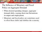 the influence of monetary and fiscal policy on aggregate demand1