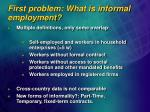 first problem what is informal employment