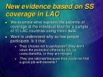 new evidence based on ss coverage in lac1