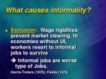 what causes informality1