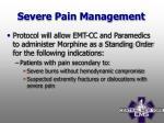 severe pain management