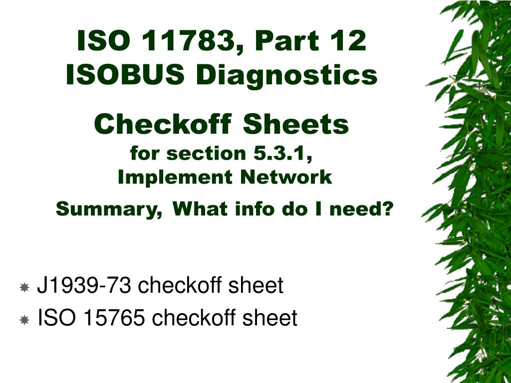 PPT - ISOBUS Diagnostics, Spring 2004 PowerPoint