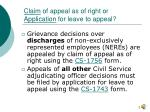 claim of appeal as of right or application for leave to appeal