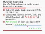 mutation scanning use of a dna toolbox as a model system for mutation scanning