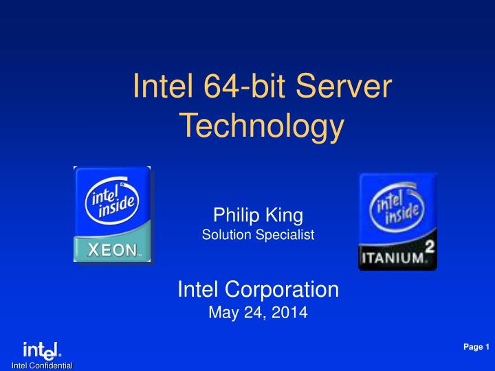 intel 64 bit server technology n.